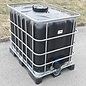 IBC Wassertank SCHWARZ 600l / 640l für Trinkwasser und Lebensmittel auf Metall- Kunststoffpalette #94MVP-TOP-REGEN-USER