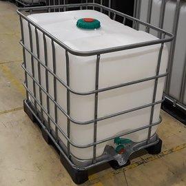 Schütz IBC Wassertank 640 l auf Stahl-Kunststoff ExFood
