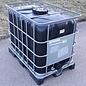 IBC Container 600 Liter SCHWARZ für Trinkwasser und Lebensmittel auf Stahl-Kunststoffpalette #I94MVP-TOP-REGEN-USER