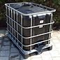 IBC Wassertank SCHWARZ 600l / 640l für Trinkwasser und Lebensmittel auf Metall- Kunststoffpalette #94MVP-ECO-REGEN-USER