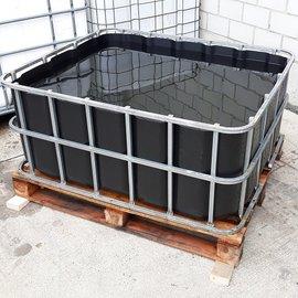 Greif IBC Wasserbecken-Verschnitt 500 l schwarz offen