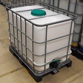 Schütz IBC IBC Wassertank 640 l gr. Deckel & 3'' auf Stahl-Kunststoff ExFood