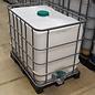 Schütz IBC Regenwassertonne 600 l-640 l (IBC) mit Deckel auf Stahl-Kunststoff-Palette gebraucht #8MVP-OD-REGEN-USER