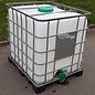 Schütz IBC IBC Container 1000 Liter ExFood mit Deckel 225 mm und 3-Zoll Auslauf auf Metall-Kunststoff-Pal. #I2GMVP-ExFood-REGEN-USER