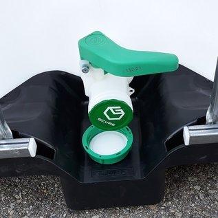 HESS DESIGN IBC Wassertank offen NEU 1000 Liter für Trinkwasser (lebensmittelecht) auf Kunststoff-Palette #6VP-O-GC-NEU-REGEN-USER