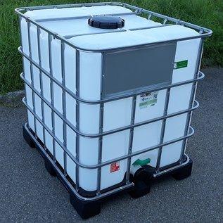 Greif IBC IBC Tank für zähflüssige Lebensmittel NEU 1000 Liter auf Kunststoff- Palette #6VP-GC3-NEU-REGEN-USER