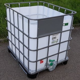 Greif IBC IBC Trinkwassertank offen NEU 1000 Liter (lebensmittelecht) auf Stahl-PE-Palette #6MPE-O-GC-NEU-REGEN-USER