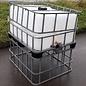 IBC Hochbeet 250 Liter mit Deckel auf 93 cm Höhe verzinkter Stahl-Palette #2HB-MPE250&55-REGEN-USER