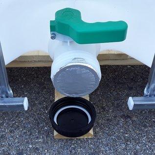 Greif IBC IBC Tank NEU 1000 Liter für dickflüssige Lebensmittel auf Holz-Palette #6H-GC3-NEU-REGEN-USER