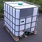 Greif IBC IBC Tank 1000 Liter NEU WEISS für FOOD mit SICHT-SCHUTZ auf Holzpalette #65H-GC-NEU-REGEN-USER