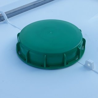 FOOD IBContainer 1000 Liter NEU (mit neuer Blase) WEISS mit UV-SCHUTZ auf Holz-Palette #65H-REGEN-USER