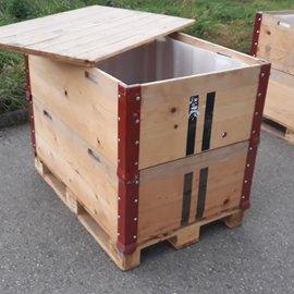 HESS DESIGN Holzfass offen mit Holzdeckel  600l / 640l  IBC NEU Trinkwasser auf Holz