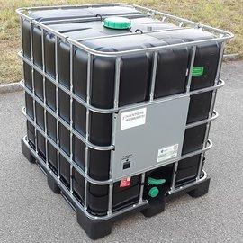 Greif IBC IBC UN-Container schwarz 1000l & FDA auf Kunststoff-Palette
