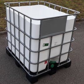 HESS DESIGN IBC Trinkwasser-Becken WEISS 1000l NEU auf Kunststoffp.
