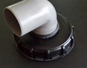 150mm Deckel mit Rohranschluss