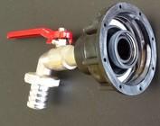 IBC Auslauf Adapter mit Wasserhahn