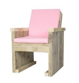 Peuterstoeltje Steigerhouten peuterstoeltje roze