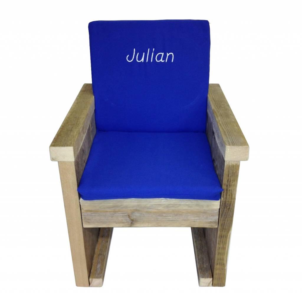 Kussentje steigerhouten stoel
