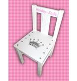 Kinderstoel met kroon en naam - kroonstoeltje