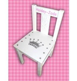 Kinderstoel met kroon en naam