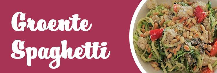 Groente pasta een gezond alternatief!