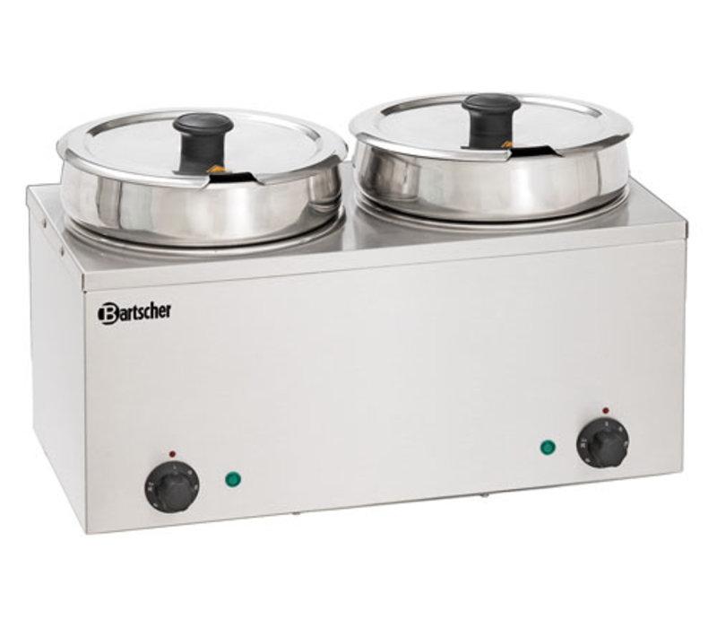 Bain-Marie Hotpot, 2x pan, 6,5 L