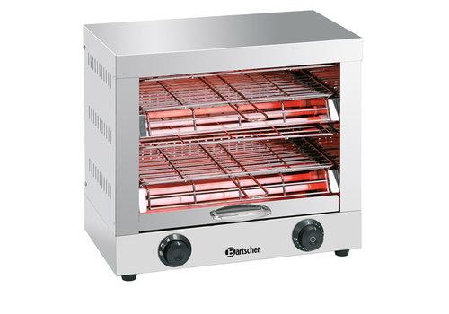 Bartscher Toaster/ Kwarts gratineeroven, dubbel