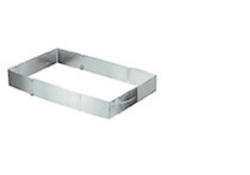 APS-Germany Bakvorm   RVS   19 cm x 28 cm x H 5 cm   Rechthoekig   Verstelbaar naar 34 cm x 54 cm