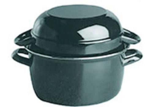 APS-Germany Mosselpan   Geëmailleerd   Ø 13.5 cm x H 9 cm   0.75 liter   Serveerpan   Pan niet geschikt om te koken