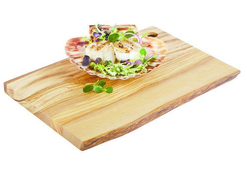 "APS-Germany Houten serveerplateau ""Olive"" | Olijfhout | 25 cm x 17 cm x H 1.5 cm"