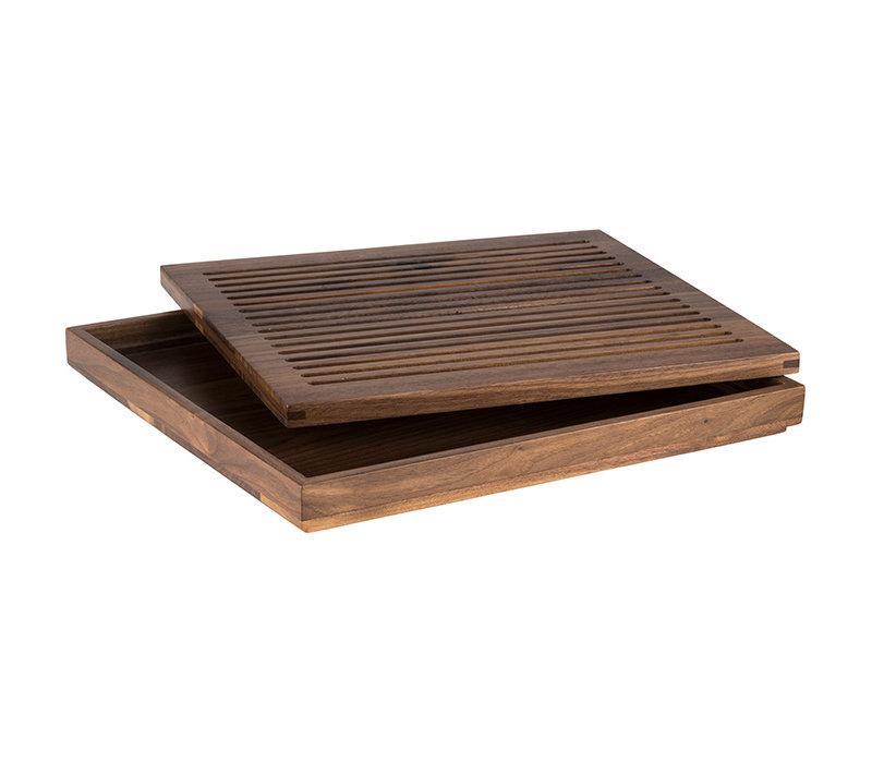 Broodsnijplank | Hout | 35.4 cm x 32.5 cm x H 3.5 cm | Kruimelopvang | Passend voor 00910