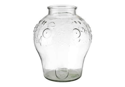 "APS-Germany Drankdispenser ""Fruits""   Glas   Ø 25 cm x H 42 cm   10.50 liter   Zonder deksel"
