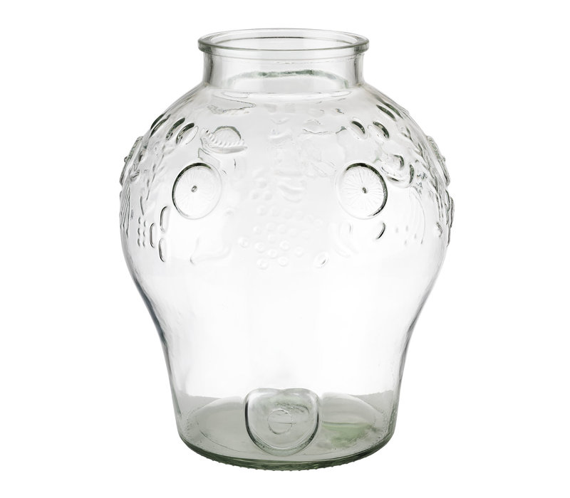 """Drankdispenser """"Fruits""""   Glas   Ø 25 cm x H 42 cm   10.50 liter   Zonder deksel"""