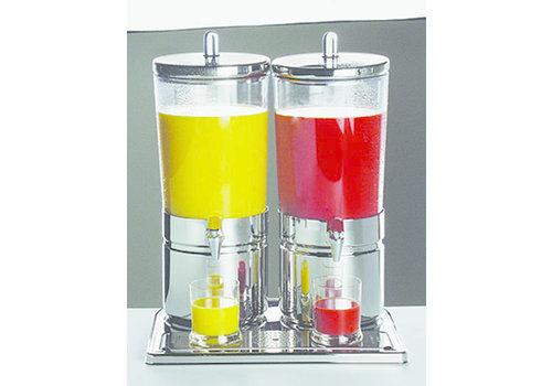 "APS-Germany Sapdispenser ""Top Fresh Duo""   RVS SAN   42 cm x 32 cm x H 52 cm   2 x 6 liter   Met 4 koelelementen"