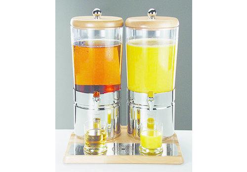 "APS-Germany Sapdispenser ""Top Fresh Wood""   RVS Beukenhout SAN   42 cm x 35 cm x 52 cm   2 x 6 liter   Met 4 koelelementen"