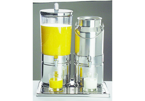 "APS-Germany Sap- en melkdispenser Duo ""Mix Top Fresh""   RVS SAN   42 cm x 35 cm x H 52 cm   5 en 6 liter   3 koelelementen"