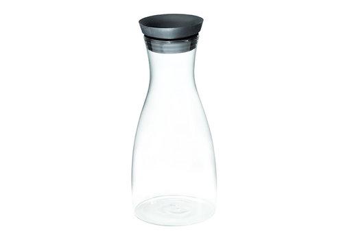 APS-Germany Karaf | Glas RVS| Ø 9,5 cm x H 27 cm | Met automatisch sluitende RVS deksel