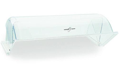 APS-Germany GN Rolltop deksel |GN 1/1 | Polycarbonaat | 53 cm x 32.5 cm x H 19 cm | Goudkleurige handgreep | Transparant