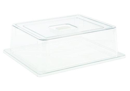 APS-Germany GN Deksel | Polycarbonaat | GN 1/2 | 32.5 cm x 26.5 cm x H 9.5 cm | Transparant