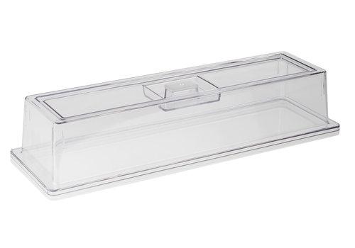APS-Germany GN Deksel | Polycarbonaat | GN 1/2 | 53 cm x 16.2 cm x H 10.5 cm | Transparant