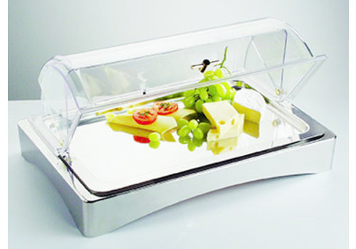 "APS-Germany Koelset ""Top Fresh"" | RVS | 56.5 cm x 36 cm x H 8.5 cm | 3-delig | 2 koelelementen"