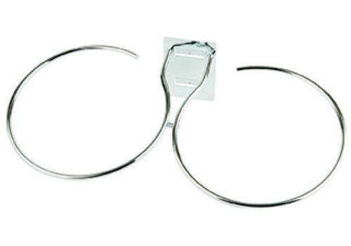 """APS-Germany Dubbele ring t.b.v. buffetladder """"Big""""   Metaal   Voor schalen Ø 23 cm   Verchroomd"""