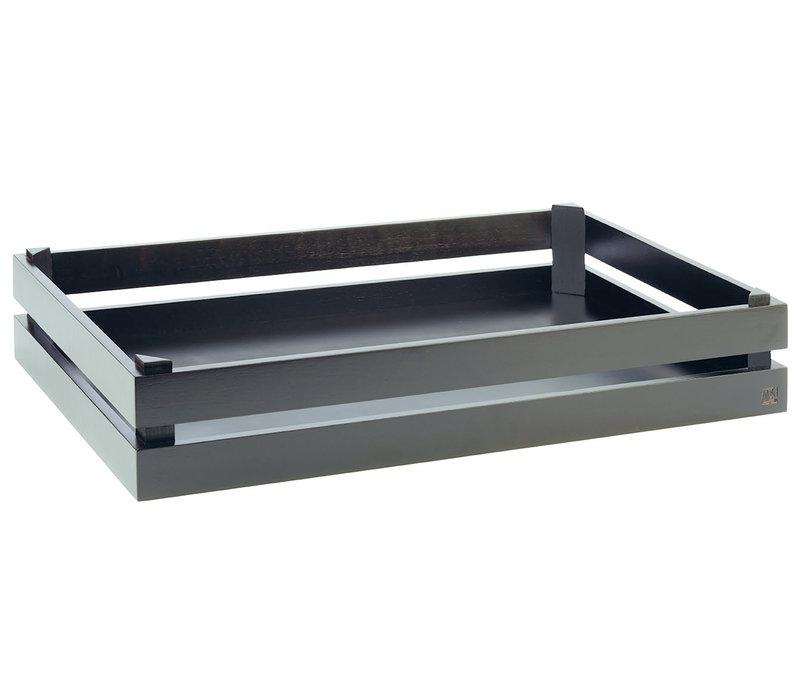 """Buffetsysteem """"Superbox""""   GN 1/1   Hout   55.5 cm x 35 cm x H 10.5 cm   Zwart"""