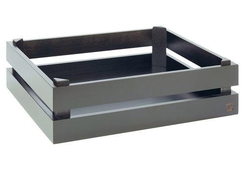 "APS-Germany Buffetsysteem ""Superbox"" | GN 1/2 | Hout | 35 cm x 29 cm x H 10.5 cm | Zwart"