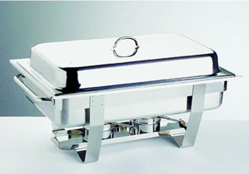 "APS-Germany Chafing Dish ""Chef""   1/1 GN   RVS   61 cm x 31 cm x H 30 cm   9 liter   65 mm diep   2 brandpastahouders"