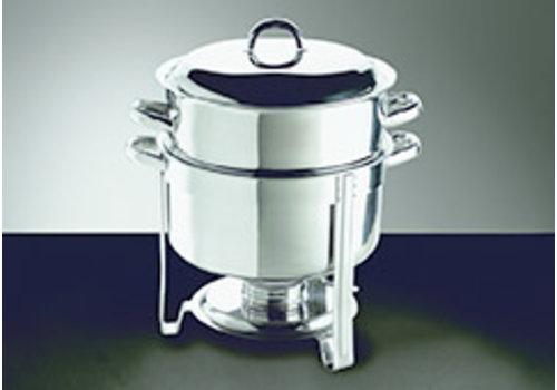 "APS-Germany Hotpot ""Hot Pot ""| RVS | Ø 33 cm x H 35 cm | 13.5 liter | Met deksel | 1 brandpastahouder"