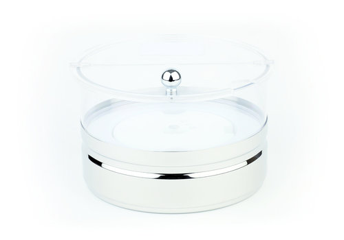 "APS-Germany Koelschaal ""Maxi Top Fresh"" | Acryl Polycarbonaat RVS | Ø 22 cm x 14 cm | 2.5 liter | 1 koelelement | 4-delig"