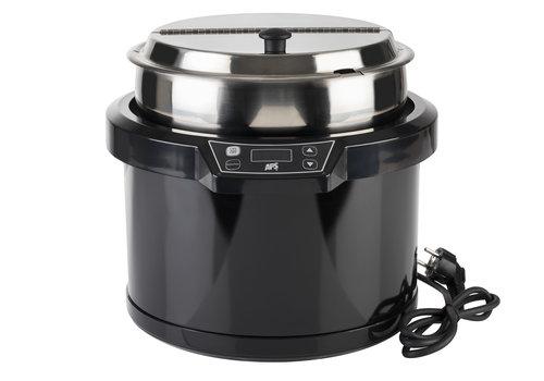 APS-Germany Elektrische soeppan zonder waterpan | Polycarbonaat RVS | Ø 34 cm x H 33 cm | 10 Liter