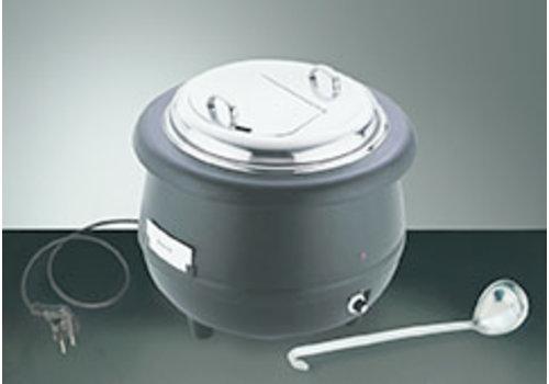 "APS-Germany Elektrische soeppan ""Sunnex"" | Polyprop Aluminium RVS | Ø 40 cm x H 37 cm | 10 liter"