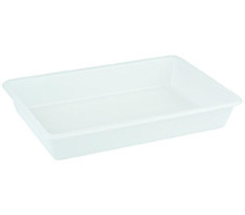 Container – verzamelbak   Polyethyleen   48 cm x 33 cm x H 8 cm   8 liter   Wit